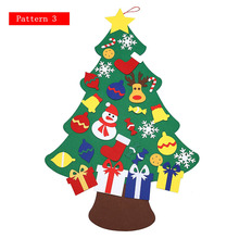 2017 New Kids DIY Felt Christmas Tree Set with Ornaments Children Gift Toddler Door Wall Hanging Home Decoration
