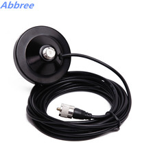 Magnetic Mount Base 9CM with Coaxial Cable length 5M for Mobile Radio Car Radio Antenna(China)