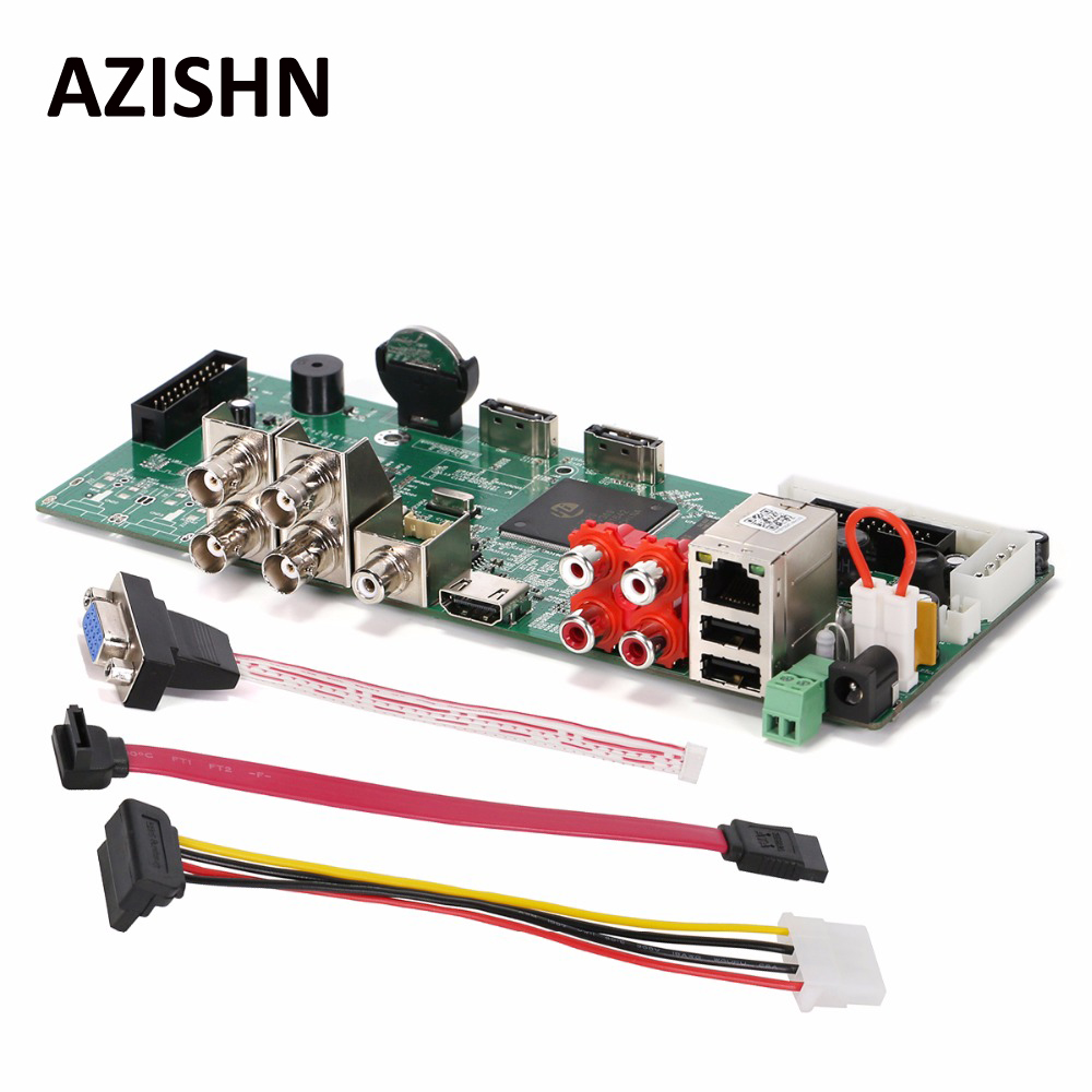 AZISHN HD 4CH 1080P AHD DVR Real Time Security H.264 TVI CVI AHD Analog IP 5 IN 1 Hybrid Video Recorder Board CCTV DVR<br>