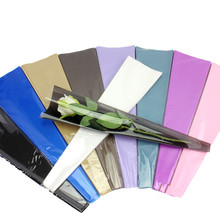 50pcs Transparency bag Rose Single Flower Bag Bouquet Wrapping Paper Plastic Opp Bag Floral Packaging Materials Accessory