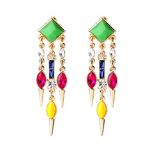 Special Store Online Shopping Fringe Earrings Modern Women Concise Dangling Ear Pendants(China)