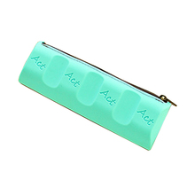 Chocolate Pencil Cases Silica gel Personality Kid School Case Pencil Case Stationery blue(China)