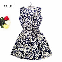 Buy CDJLFH Sexy summer Black autumn slim Sleeveless Women casual Bohemian floral leopard sleeveless vest printed beach chiffon dress for $3.50 in AliExpress store