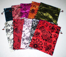 Wholesale 10pcs 28*37cm Beautiful Chinese Handmade Craft Silk Satin Clothes Shoe Bags/storage bag(China)