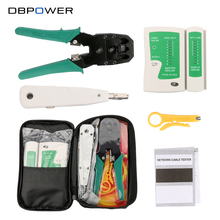 DBDBPOWER Network Ethernet Cable Tester RJ45 Kit RJ45 Crimper Crimping Tool Punch Down RJ11 Cat5 Cat6 Wire Line Detector(China)