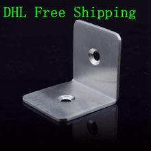 100pcs/lot 45x45mm Stainless Steel Mateiral Wood Fence Bracket 2 Holes 90 Degree Corner Bracket Furniture Connectors Wholesale