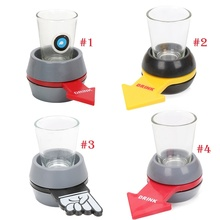 4styles Drinking Game Set Spin The Shot Glass Turntable Toys Shot Glass with Spinning Wheel KTV Bar Wine Games Party Favors(China)