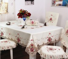 208#  square luxury Table clothes  house embroidery tablecloth table mat table cover flower mat wholesale