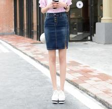 Buy XS-8XL Summer Pencil Denim Skirt Women Plus Size Mini Skirts women Elegant Skirt Buttons Slim High Waist jean Skirts ladies for $23.45 in AliExpress store