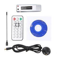USB2.0 Digital DVB-T HDTV TV Tuner Receiver Stick Recorder Receiver Software Radio with Antenna for Laptop tablet pc Notebook