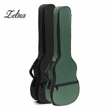 Zebra Black Green Ukulele Shoulder Carry Case Box Cover Bag With Straps For Acoustic Guitar Musical Instrument Parts &Accessory
