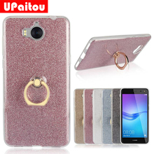 Buy UPaitou Glitter Bling Case Huawei Huawei Y5 III Y5 2017 Case Cover Ring Holder Soft TPU Case Coque Huawei Y5 3 Back Case for $2.35 in AliExpress store