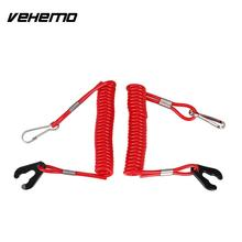 Vehemo 2Pcs/Pack Cord Outboard Engine Motor Lanyard Safety Tether ABS Motorboat for Yamaha Red(China)
