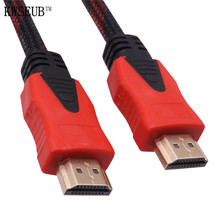 1 Pcs 1.4 Version 140cm * 7.3mm Hdmi Computer Connected High-definition TV Cable Hdmi Cable Version 1.4 / Support 3D 1080P(China)