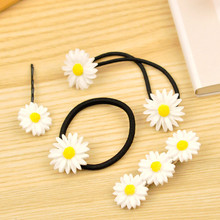 2pcs/lot hot sale women hair accessories girls/kids hairpins cute headband elastic hair flower crown Daisies hair clip for women