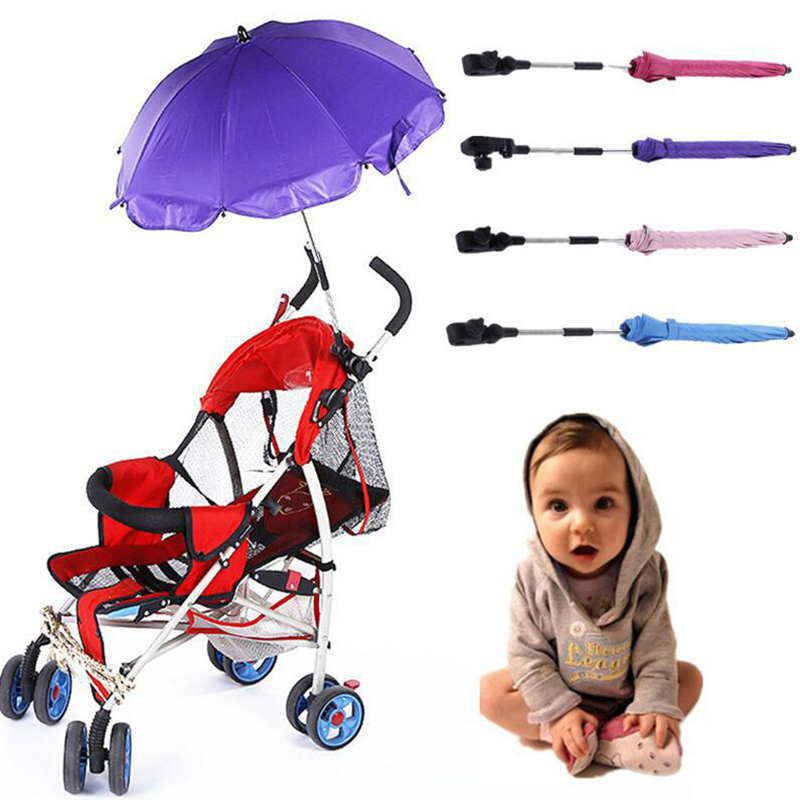Adjustable baby carriage umbrella sunny and charming fashion cart sun umbrella windproof(China)