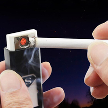 Portable Electronic USB Flameless Cigar Cigarette Lighter Rechargeable Lighter  Silent Windproof Gadget