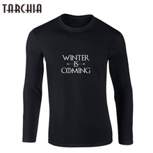 Buy TARCHIIA Men Tee Shirt Printed Game Thrones Winter Coming T Shirts Casual Mens Tops Long Sleeve Man Hip Hop Fashion Clothe for $11.34 in AliExpress store