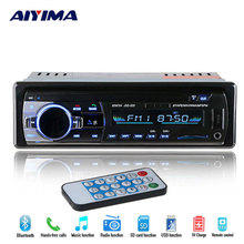 AIYIMA Mp3 Player Bluetooth 12V Car FM Radio Mp3 Music Player Support Bluetooth USB/SD MMC Port Car Electronics In-Dash 1 DIN(China)