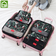 6 Set Premium Quality Travel Organizer Bag Various Sizes Luggage Clothes Storage Bag 3 Packing Cubes and 3 Pouches