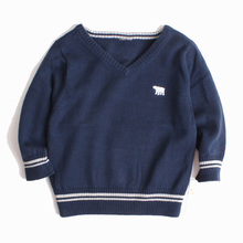 2017 Autumn Children's clothing Kids boys sweaters 100% cotton V-neck Knitted Sweaters 1-4Y High quality Baby Clothing