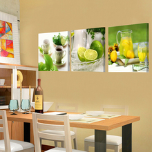 Prints Canvas Painting Dining Room Decorative Picture Canvas Paintings Modern Flower Kitchen Wall Decor Pictures No Frame HY56(China)
