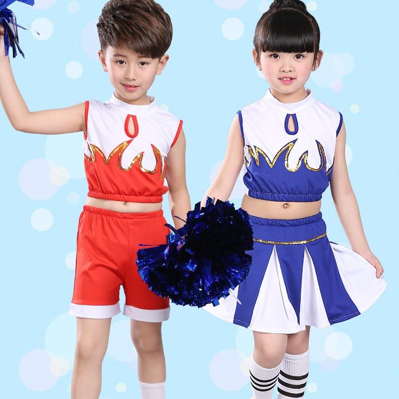 Children Cheerleading Jazz Dance Costumes Boys and Girls Group Performances New Children Gymnastics Suits Dancewear for Kids