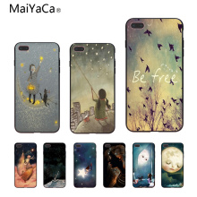 Buy MaiYaCa 2018 hot Stars moon TPU Soft Silicone black Phone Case Cover Apple iPhone 8 7 6 6S Plus X 5 5S SE 5C Cellphones for $1.29 in AliExpress store