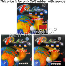 Palio CJ8000 Pips-In Table Tennis (PingPong) Rubber with Sponge (Hardness: 36-38)