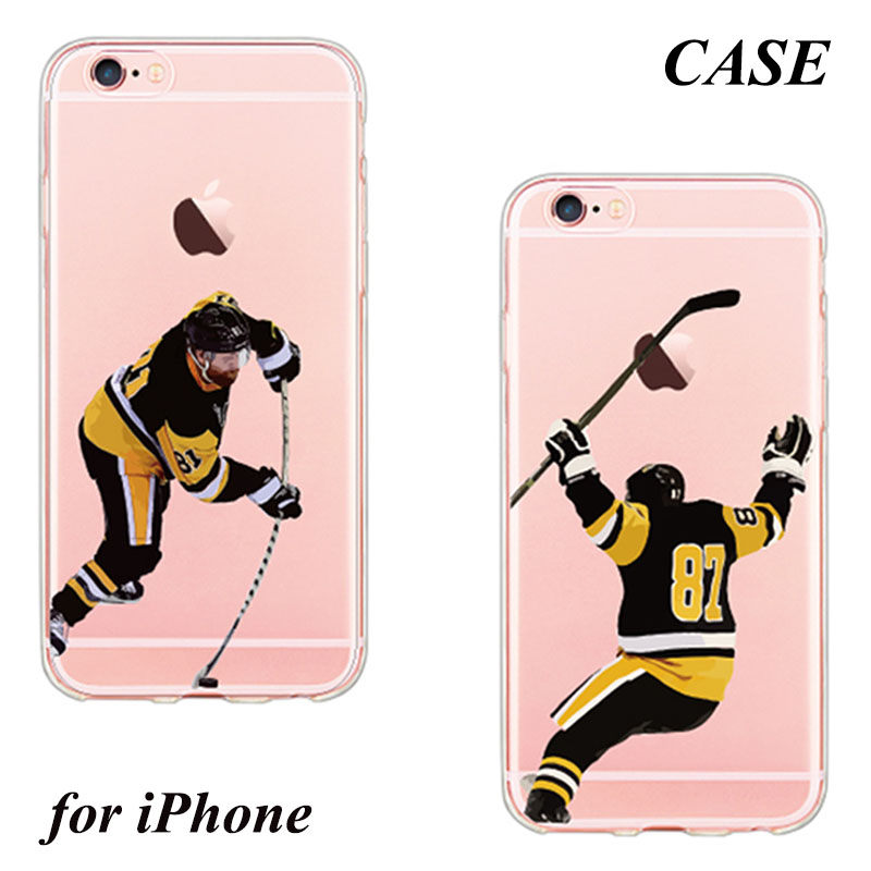 Hockey athlete style design Pattern Soft TPU Silicone Rubber Case Capa Fundas for iPhone 5 5s SE 6 6s 6 Plus 6s Plus 7 7 Plus(China (Mainland))
