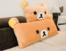 lovely relaxed bear Rilakkuma bear plush toy soft pillow, zipper closure , birthday gift d5178(China)
