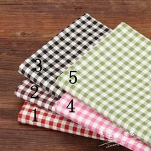 [mango fabric] 5 color Plaid Cotton Linen handmade DIY cloth 1/4 M(China)