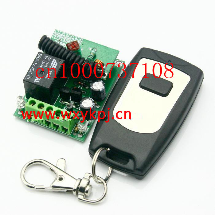 Free shipping 12v 1ch Wireless remote control switch delay Time is adjustable 315mhz/433mhz z-wave<br><br>Aliexpress