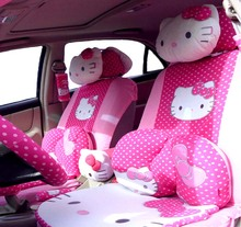 29 pcs perfect Styling Universal hello kitty car seat covers set /Universal Interior Accessories/Universal Seat covers(China)