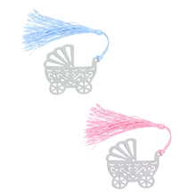 Blue/Pink Baby Carriage Bookmark Wedding Favors And Gifts Birthday Party Baby Shower Favor Gifts Girl Boy Weeding Favor