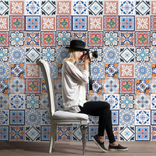 Colorful Mosaic Wall Tiles Stickers Waist Line Wall Sticker Kitchen Waist Line Adhesive Bathroom Toilet Waterproof PVC Wallpaper