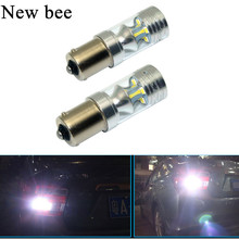 Newbee 1156 BA15S LED 60W White Car Auto Light Source Tail Reverse Backup Brake Lamp Bulb DC12V For VW Touran Polo Jetta Mk6 Mk7(China)