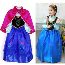 NEW 2017 Children Kids Costume Beautiful Elegant Baby Girls Fantasia Girl Dress Anna Elsa Dress Kids Party Dresses Kids Clothing
