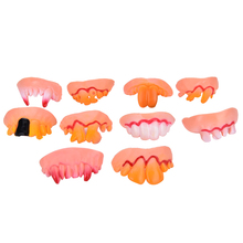 ZTOYL April Fool Gift Halloween Funny False Teeth Gags Practical Jokes Prank Freak Teeth Wacky Party Buckteeth Cosplay Toys(China)