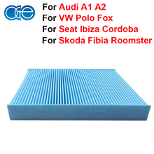 Car Parts Carbon Cabin Filter For Skoda Fibia Roomster Seat Ibiza Cordoba VW Polo Fox Audi A1 A2 Accessories OEM 6Q0819653B