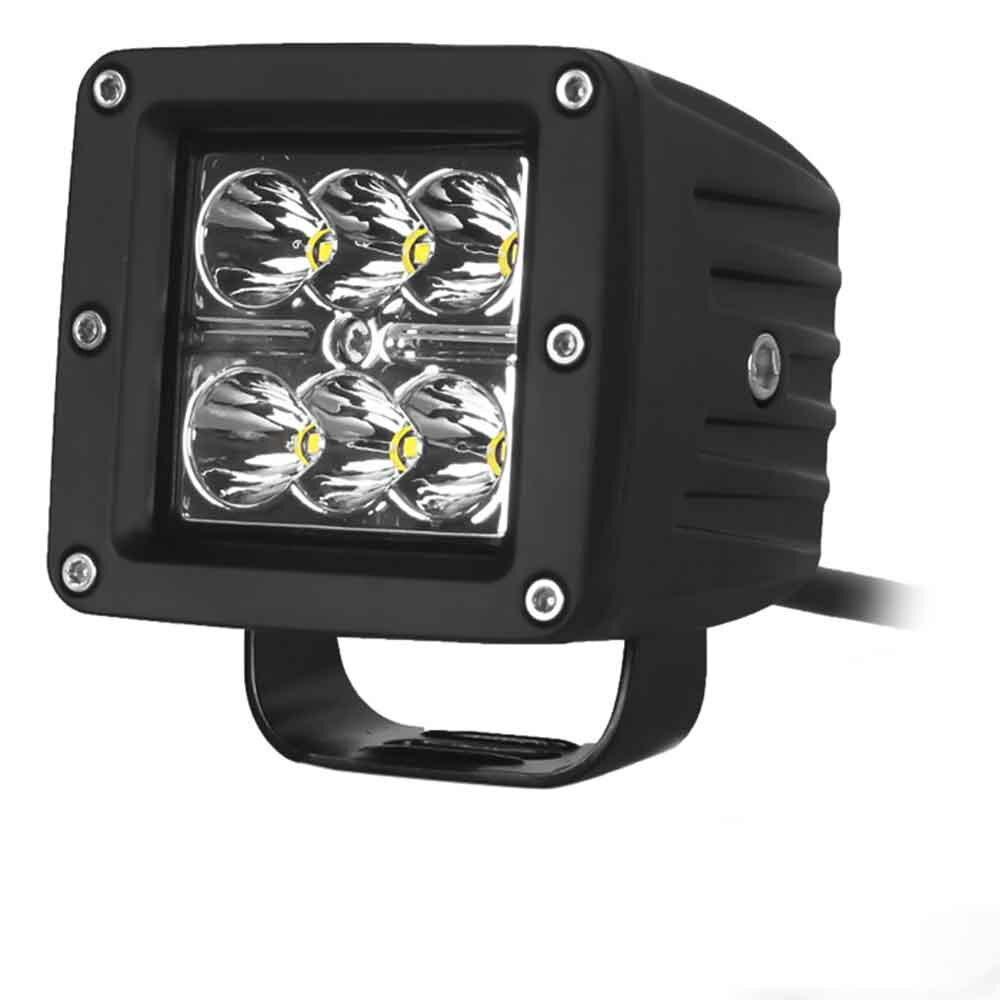 DY1218 Car Spotlight Headlamp White Light 6 LEDs 1800LM 6000K 18W 10 - 30V with Cast Aluminum Housing Standardized Level IP68<br><br>Aliexpress