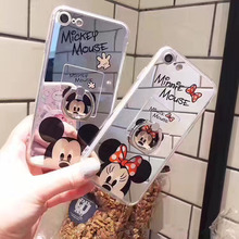For iphone 6 Case Cartoon Lovely Mirror TPU Soft Silicon Hello Kitty Case Mickey Minie Mouse For iphone 5S 7 6 6s Plus Case Capa(China)