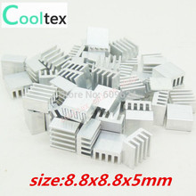 50pcs  Extruded Aluminum heatsink 8.8x8.8x5mm ,Chip  VGA  RAM LED  IC radiator, COOLER