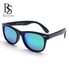 Fashion Rivets Kids Radiation protection Polarized Sunglasses Boys Glasses Girls UV400 Sun glasses Flexible silicone Glasses(China)