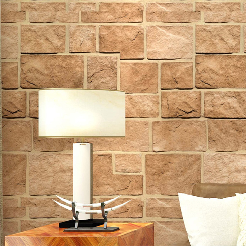 Chinese Style 3D Imitation Rock Stone Brick Vinyl Wallpaper For Walls PVC Waterproof Wall Papers Home Decor Papel De Parede 3D<br>