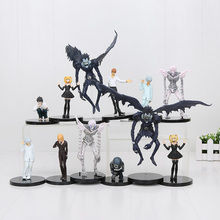 Anime Cartoon Death Note L Killer Ryuuku Rem Misa Amane PVC Action Figures Toys 6pcs/lot Free Shipping(China)