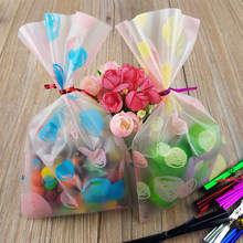 100pcs 12*20cm Transparent Hubble-bubble Cookies Bag Diy Gift Bag For Christmas Wedding Party Candy Food Packaging Bag Chic Gift