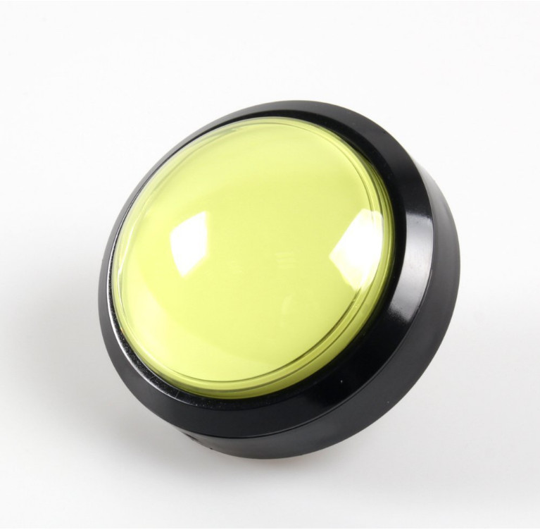 100mm Convex Round Push Button LED Illuminated  with Microswitch (3)