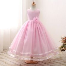 Gorgeous Baby Girl Long Evening Dress Wedding Gown Children's Princess Costume For Girl Teenagers Kids Party Dress Size 10 Years