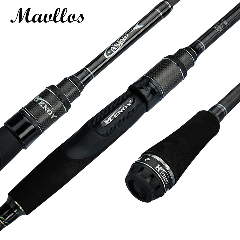 Mavllos M Hard X-Cross Carbon Fishing Rod CW8-25g 4 Section LW5-14LB Spinning Rod Fast Action Bait Casting Fishing Rod<br>